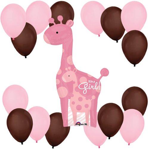Safari Baby Girl Giraffe Balloon Kit front-152718