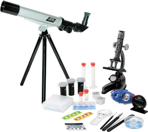 Elenco Microscope And Telescope With Survival Kit