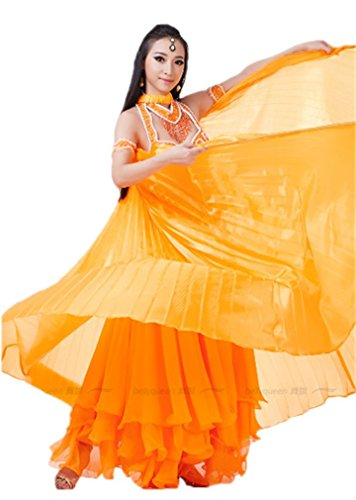 Dreamspell Beautiful Orange Big Isis Wings Transparent for Belly Dance