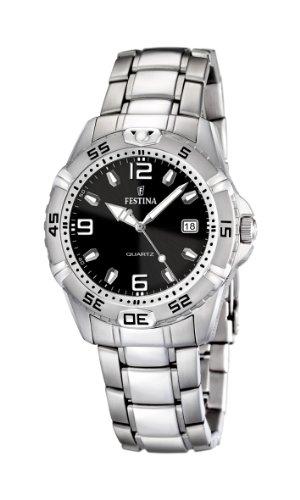 Festina F16636/4 - Reloj analógico de cuarzo para hombre con correa de acero inoxidable, color plateado