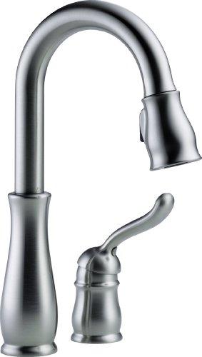Big Save! Delta Faucet 9978-AR-DST Leland Single Handle Bar/Prep Faucet, Arctic Stainless