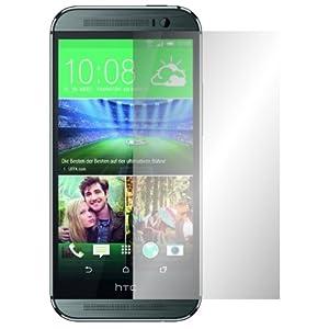 """4 x Slabo Displayschutzfolie HTC ONE M8 Displayschutz Schutzfolie Folie """"Crystal Clear"""" unsichtbar MADE IN GERMANY"""
