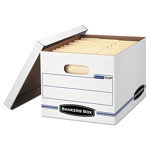 Bankers Box Stor/File Basic-Duty Storage Boxes with Lift-Off Lid, Letter/Legal, 6 Pack (Document Storage Box compare prices)