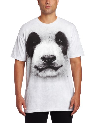 Animal T Shirts - Panda T-Shirt, Gray, Medium