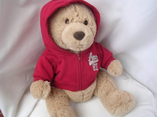 41Q5wsCt8LL Reviews Aeropostale Teddy Bear Large Plush Toy 17 Collectible ; Red Aero Christmas Valentine Gift