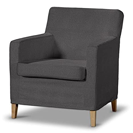 FRANC Textile 621-705-35 Karlstad Arm Chair One Seater Burdeaux Fabric High Sesselhusse, Etna, Karlstad Armchair Dark Grey by FRANC-TEXTIL