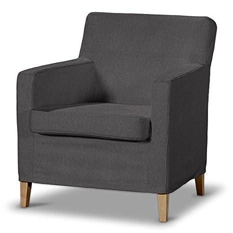 FRANC Textile 621-705-35 Karlstad Arm Chair One Seater Burdeaux Fabric High Sesselhusse, Etna, Karlstad Armchair Dark Grey by FRANC-TEXTIL