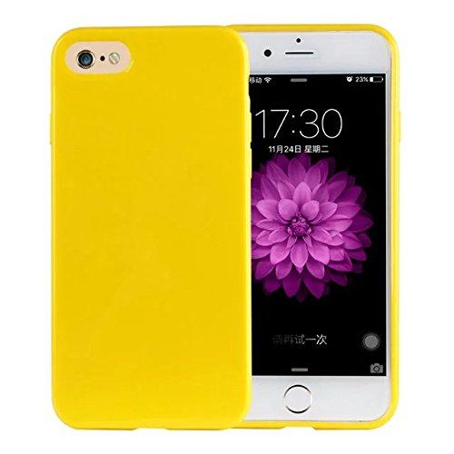 delightable24 Protezione Cover Case in Silicone TPU Jelly per Smartphone APPLE IPHONE 7 - Giallo