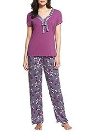 Per Una Satin Floral Pyjamas [T37-6368-S]