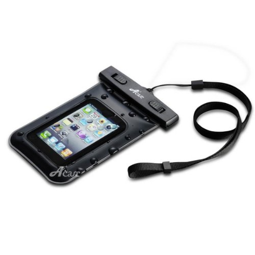 Acase シースルー 防水ケース XL Waterproof case for iPhone5 / GALAXY S4 / GALAXY S III / ARROWS / AQUOS Phone / Xperia (ストラップ付) 防水保護等級:IPx8