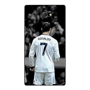 Jugaaduu Cristiano Ronaldo Real Madrid Back Cover Case For Sony Xperia M2