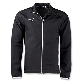Puma Mens Pulse Coaches Jacket Large Black/White at Amazon