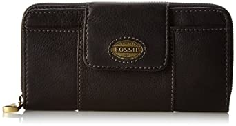 Fossil Explorer Clutch Wallet,Black,One Size
