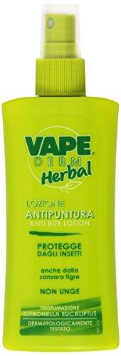 Vape - Derm Herbal, Lozione Antipuntura, Protegge dagli Insetti -  100 ml