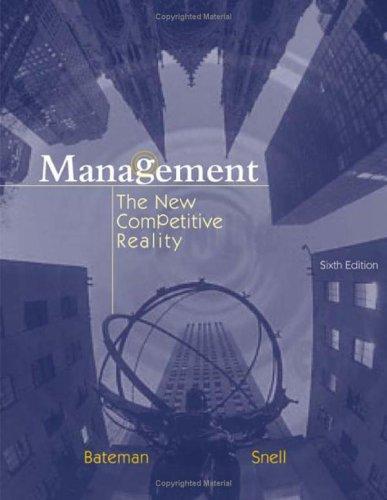 Management: The New Competetive Landscape