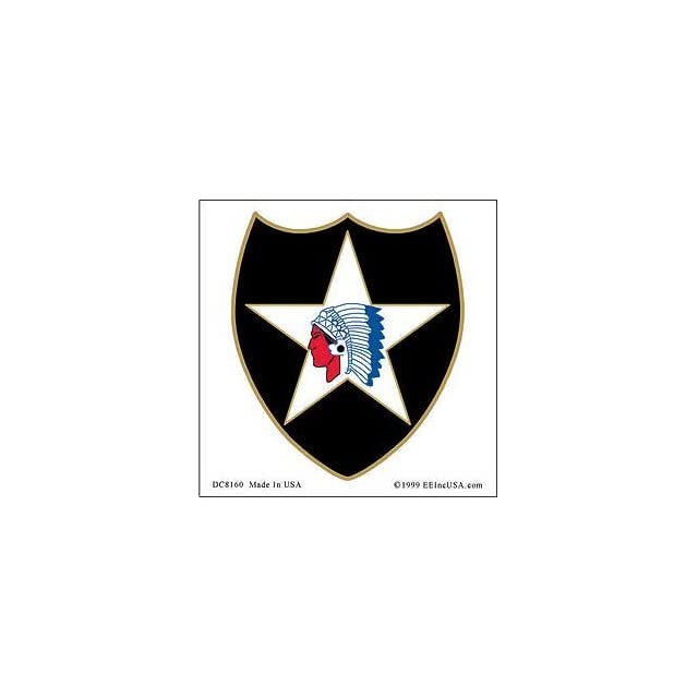 US Military Armed Forces Window Sticker Decal   Army  USN Navy  USMC Marine Corps  USAF Air Force  USCG Coast Guard   2nd Infantry Division Logo