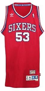 Darryl Dawkins Philadelphia 76ers Adidas NBA Chocolate Thunder Swingman Jersey by adidas