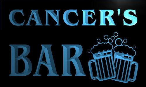 W109401-B Cancer'S Name Home Bar Pub Beer Mugs Cheers Neon Light Sign