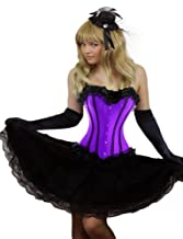 Yummy Bee Burlesque Corset + Long Skirt Plus Size 6-24 Fancy Dress Costume (Women: 22-24, Purple)