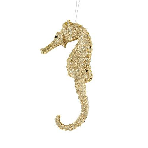 CHAMPAGNE GLITTER SEAHORSE Ornament