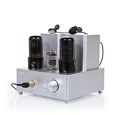 Gemtune APPJ PA1502A 6N4+6P6P tube headphone amplifier (Silver)