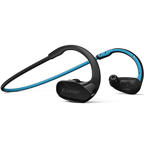 Phaiser BHS-530 Bluetooth Headphones Runner Headset Sport Earphones with Mic and Lifetime Sweatproof Warranty - Wireless Earbuds for Running, Oceanblue (Bullet Shaped Headphones compare prices)