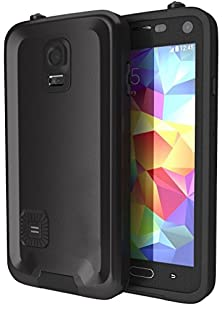 buy Galaxy S5 Waterproof Case, Zoumba Atomic Black Samsung Galaxy S5 Waterproof Case W/ Attached Screen Protector - Lifetime Warranty - Ultra Slim Fitted Premium Waterproof Shockproof Dustproof Dirtproof Snowproof Hard Shell Cover Case For Galaxy S5 - Black