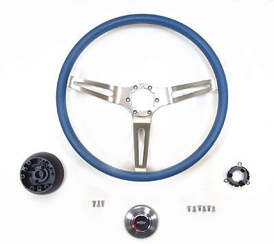 The Parts Place Chevrolet 3 Spoke Sport Steering Wheel Kit Complete - Blue (1969 Nova Yenko Model compare prices)