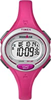 Timex Ironman Women's Quartz Watch with LCD Dial Digital Display and Pink Resin Strap - Tw5K90300