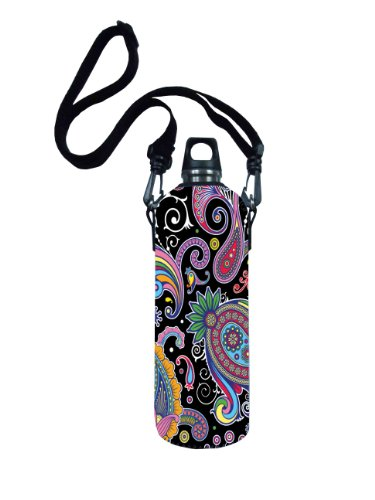 Colorful Pattern 750Ml Water Sport Bottle Carrier Insulated Zipper Cover Case Bag Pouch Holder front-26059