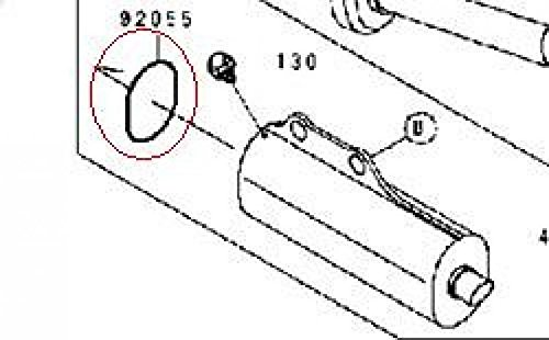 Joint de pot d échappement moto Kawasaki 100 KX 1996 92055-1461 Neuf