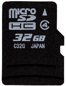 東芝 日本製 microSDHC 32GB class4 バルク品(外箱なし)アダプターなし(ミニケース・PE袋入)