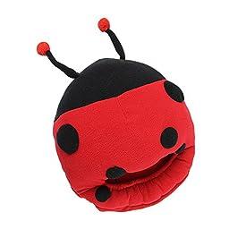 Seadream Unisex Multi-use Washable USB Heated Slipper, USB Foot Warmer,USB Warmer Shoes,USB Heated Plush Slipper Pilow Carton Design (beetle design red)