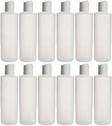 Earth's Essentials Twelve Pack Of Refillable 8 Oz. Squeeze Bottles With One Hand Press Cap Dispenser Tops. Great for Dispensing Lotions, Shampoos and Massage Oils. (Massage Bottle compare prices)