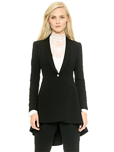 My Wonderful World Women's Casual Lapel Style Tuxedo Blazer XX-Large Black