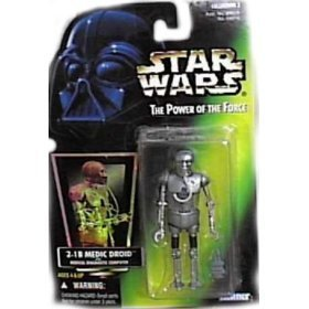 Star Wars Power of the Force Green Card 2-1B Medic Droid with Medical Diagnostic Computer - 1