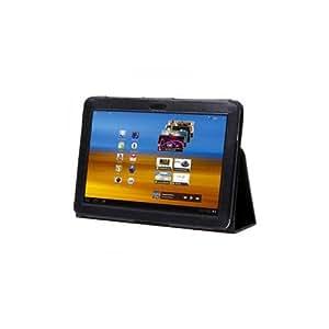 Hülle für Samsung Galaxy Tab 10.1 und 10.1n Schutzhülle, Tasche Case in Schwarz mit Aufsteller
