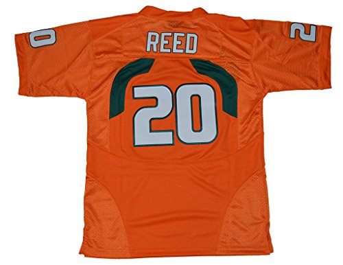 2016-2017 Ed Reed #20 Kids/Youth College Football Jersey Orange Large (Miami College Football Jersey compare prices)