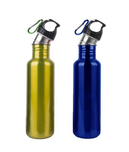 25Oz. Stainless Steel Water Bottle Canteens - Combo 2 Pack - Eco Green & Ocean Blue Finish front-1040762