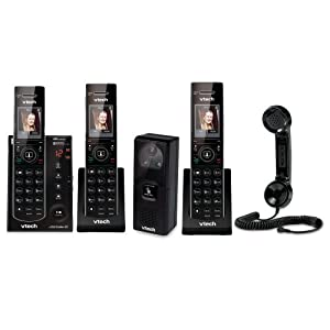 Vtech IS7121-2 Handset Answering System with Audio/Video Doorbell + 1 Additional Accessory Handset + VTech Retro Handset