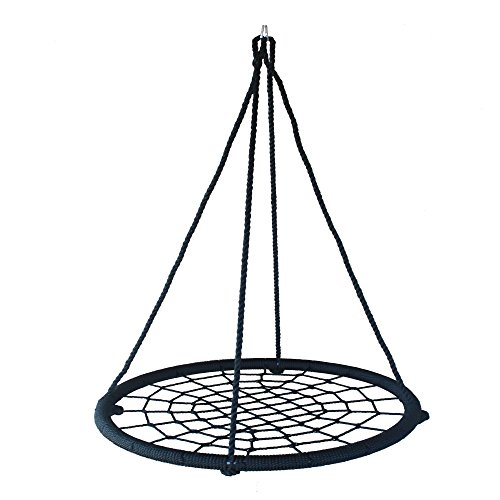 "Lowest Prices! Children's swing 39"" round and 600# interactive spider web platform replaces tir..."