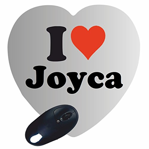 "ESCLUSIVO: Cuore Tappetino Mouse/ Mousepad ""I Love Joyca"" , una grande idea regalo per il vostro partner, colleghi e molti altri! - regalo di Pasqua, Pasqua, mouse, poggiapolsi, antiscivolo, gamer gioco, Pad, Windows, Mac, iOS, Linux, computer, laptop, notebook, PC, ufficio , tablet, Made in Germany."