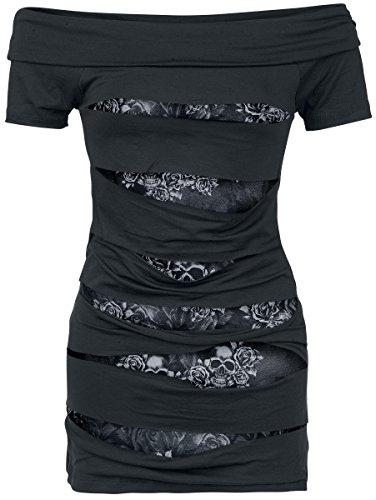 Black Premium by EMP Rose Skull Maglia donna nero XXL