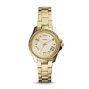 Fossil Women's AM4577 Analog Display Analog Quartz Gold Watch