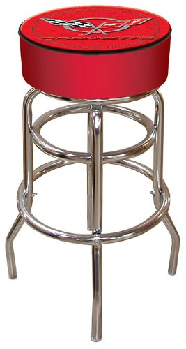 Trademark Global Corvette C5 Padded Bar Stool, Red