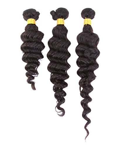 Cool2day-Deep-Wave-Mix-Length-3-Bundles-100-Brazilian-Human-Hair-Weave-Extensions150Gram-Grade-6A