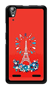 """Humor Gang Eiffel Tower - Paris - Red Printed Designer Mobile Back Cover For """"Lenovo A6000"""" (3D, Glossy, Premium Quality Snap On Case)"""