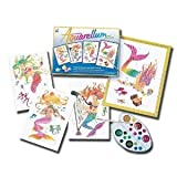 Sentosphere Junior Artistics for Kids - Mermaids - 4 Ready to Paint Magic Pictures Art Kit