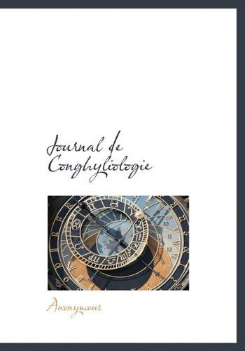 Journal de Conghyliologie