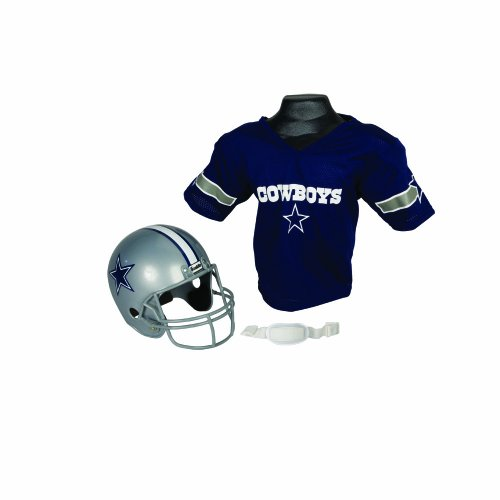 NFL Dallas Cowboys Replica Youth Helmet and Jersey Set